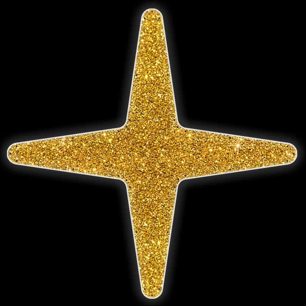 Estrela 4 pontas Iluminada Led Decoração Dia e Noite - PN0015/A-DN