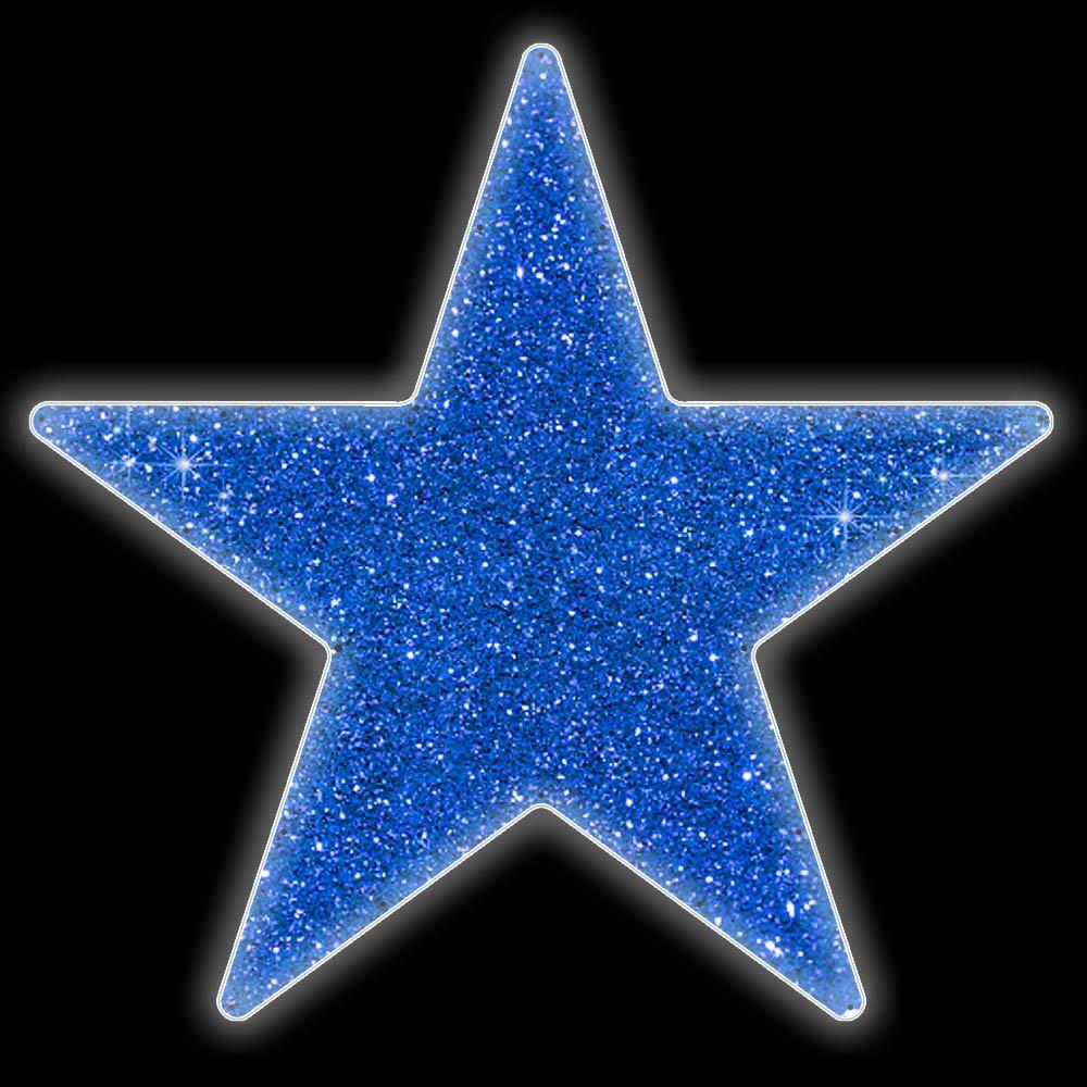 Estrela 5 pontas Brilho Iluminada Led Decoração Dia e Noite