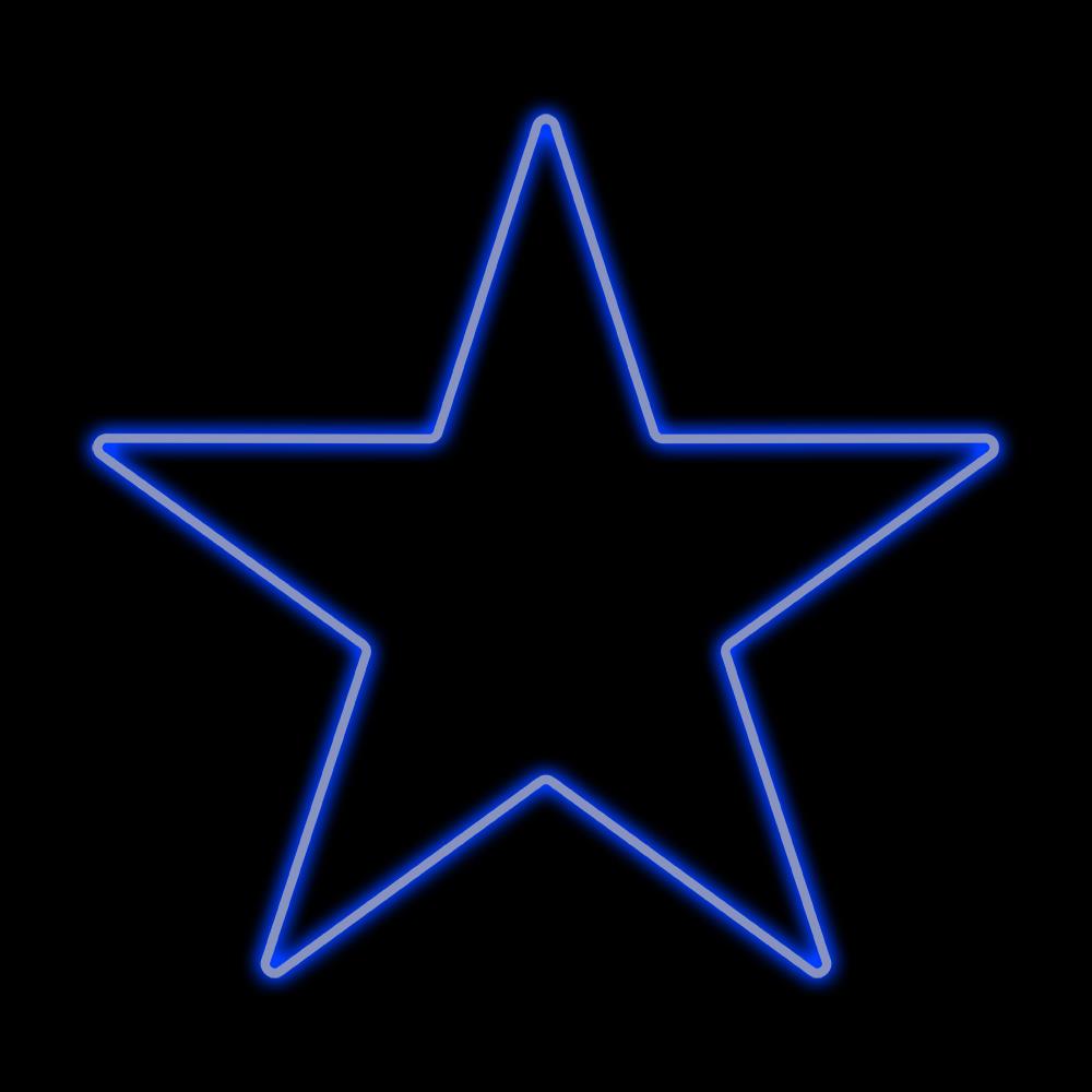 Estrela 5 Pontas Iluminada 30cm Azul Incandescente 220V