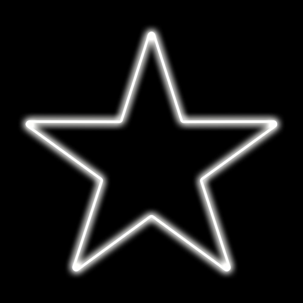 Estrela 5 Pontas Iluminada 30cm Branco LED 127V