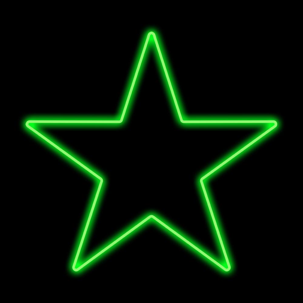 Estrela 5 Pontas Iluminada 30cm Verde Incandescente 127V