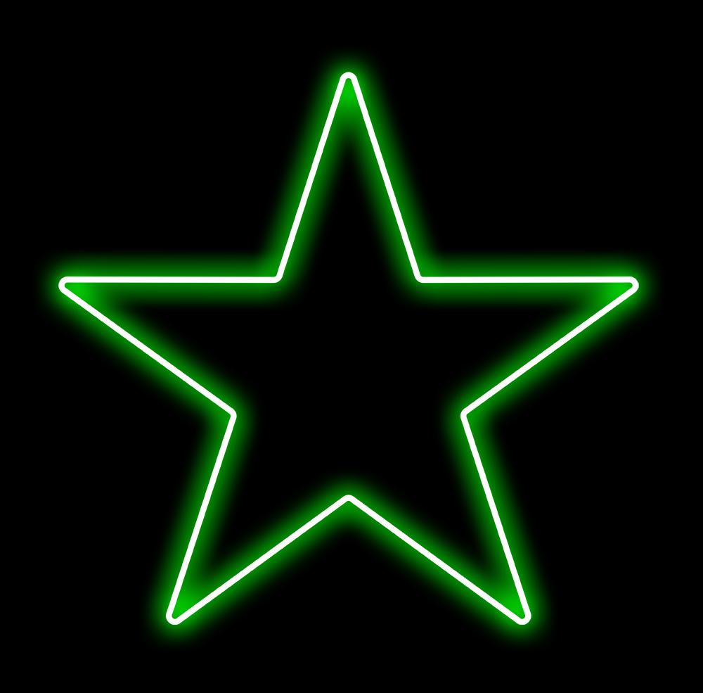 Estrela 5 Pontas Iluminada 30cm Verde LED 127V