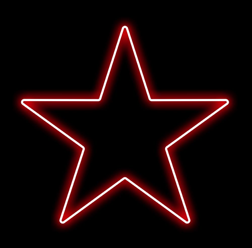 Estrela 5 Pontas Iluminada 30cm Vermelha LED 220V