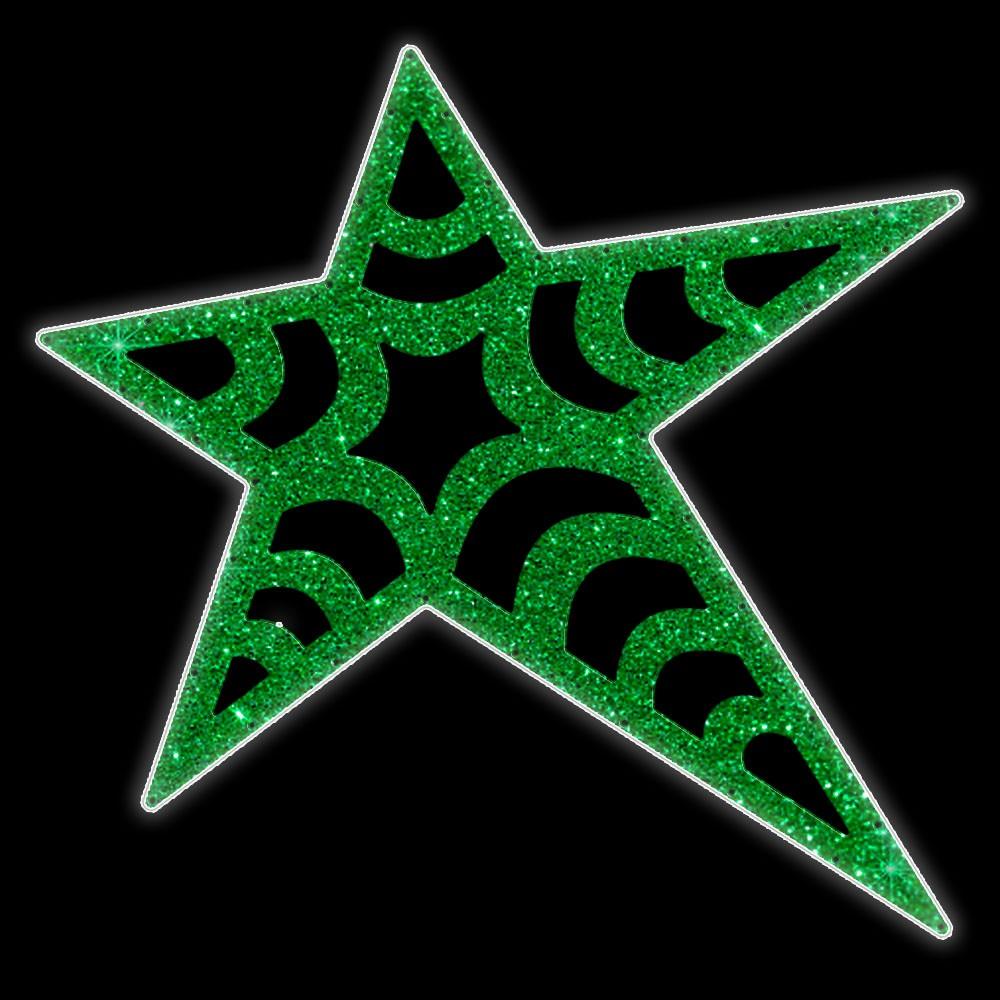 Estrela 5 pontas Suez Iluminada Led Decoração Dia e Noite PN-014/F-DN