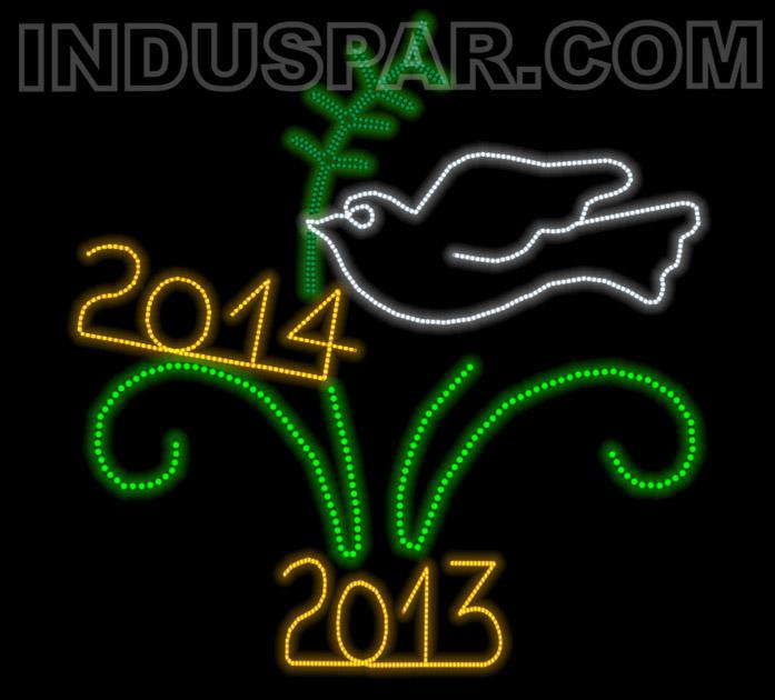 FIGURA DE NATAL ILUMINADA INDUSPAR - COMEMORATIVA FC-012 - POMBA 2014
