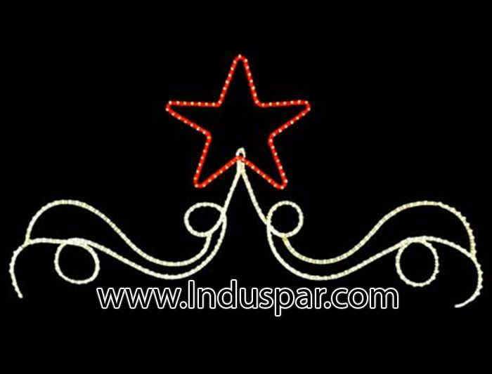 Figura de Natal Iluminada - Estrela Vaporosa