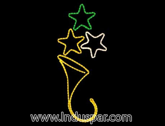Figura de Natal Iluminada - Estrelas Flutuantes