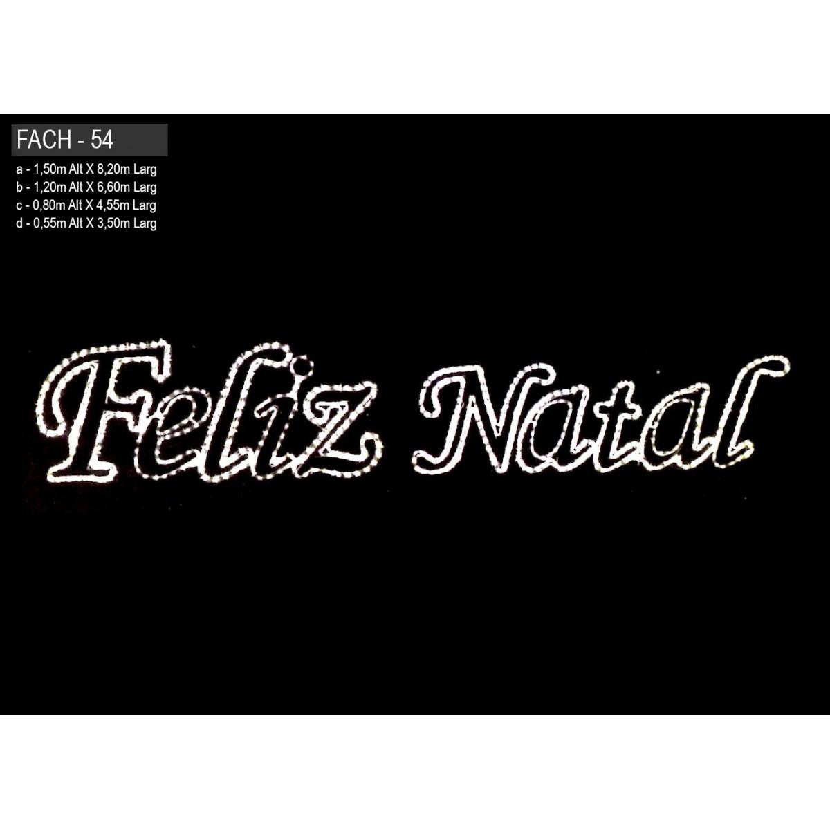 Painel de Natal PN-054/B Iluminado Led - Feliz Natal - MED 1,20 x 6,60 mts