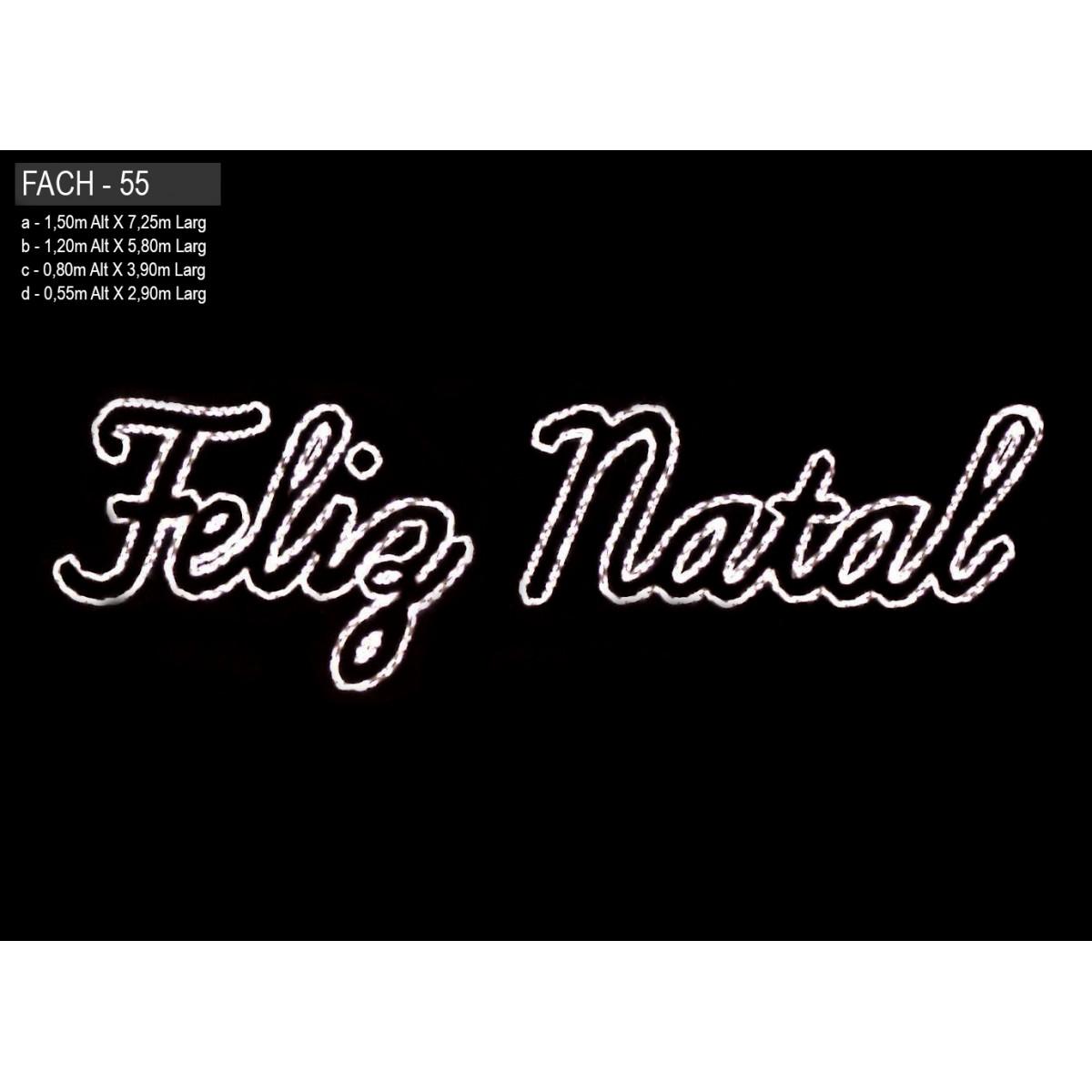 Painel de Natal PN-056-FE/B Iluminado Led - Feliz Natal - MED 1,20 x 5,80 mts