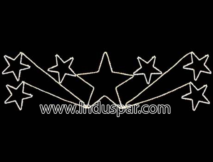 Figura de Natal Iluminada - Conjunto de Estrelas