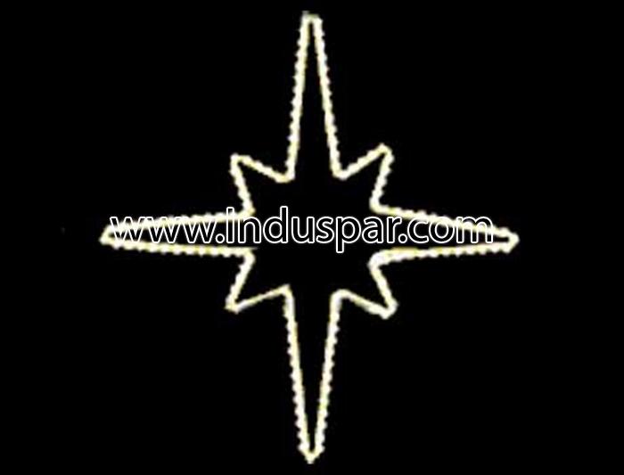 Figura de Natal Iluminada - Estrela 8 Pontas