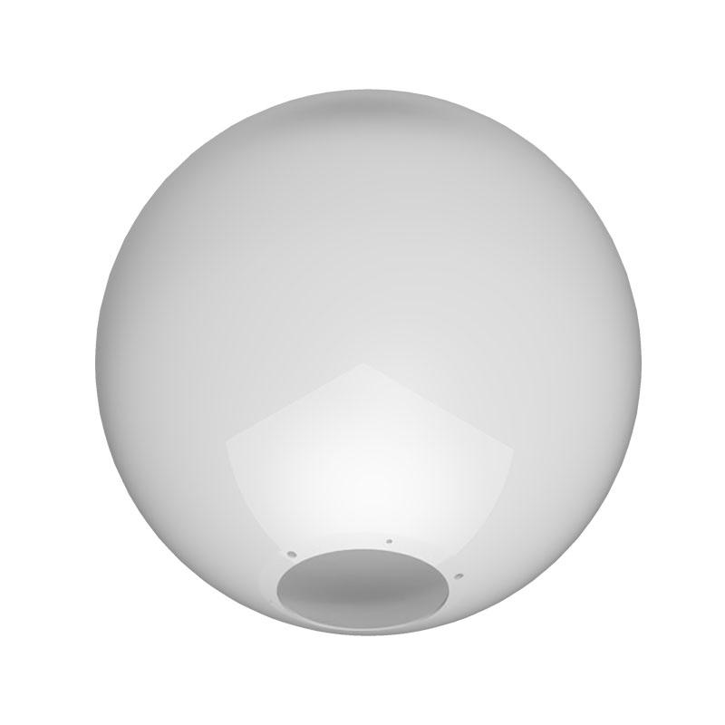 Globo 50cm Esférico para Poste sem Colarinho B-18 - Polietileno Leitoso