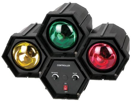 Jogo De Luz Colorida Sequencial 3 Lâmpadas SPOT 60W