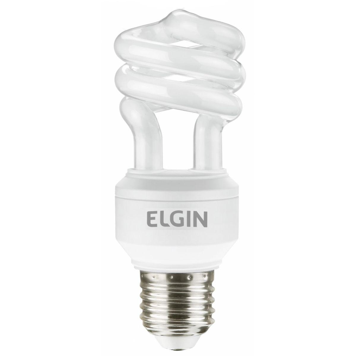 Lâmpada Econômica  11W Espiral 127V Branco Frio - E-27 ELGIN