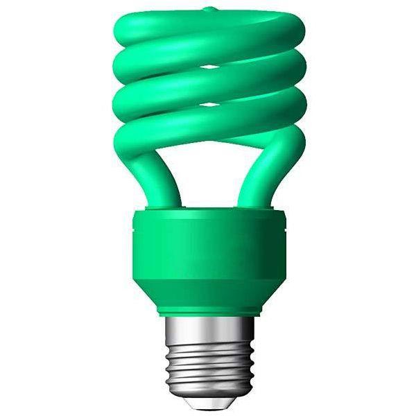 Lâmpada Econômica  15W Espiral 127V Verde - E-27 XELUX