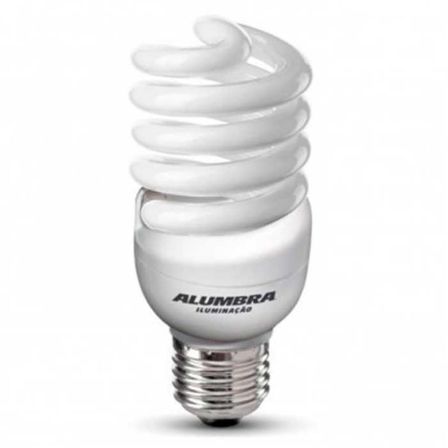 Lâmpada Econômica  15W Mini Espiral 127V Branco Morno - E-27 ALUMBRA