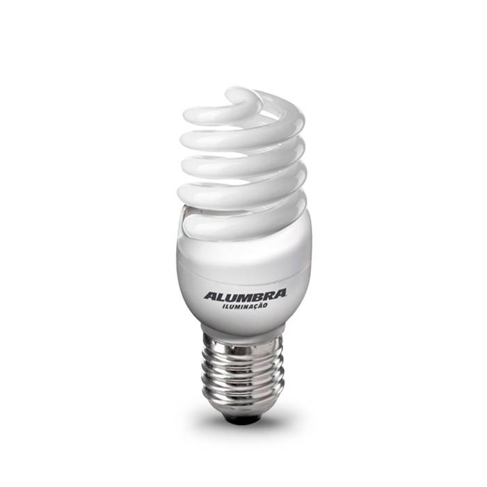 Lâmpada Econômica   9W Mini Espiral 127V Branco Frio - E-27 ALUMBRA