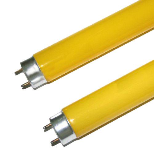 Lâmpada Fluorescente Tubular Amarela 18W - Caixa com 25 Peças