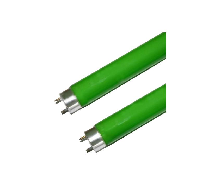 Lâmpada Fluorescente Tubular Verde 18W - Caixa com 25 peças