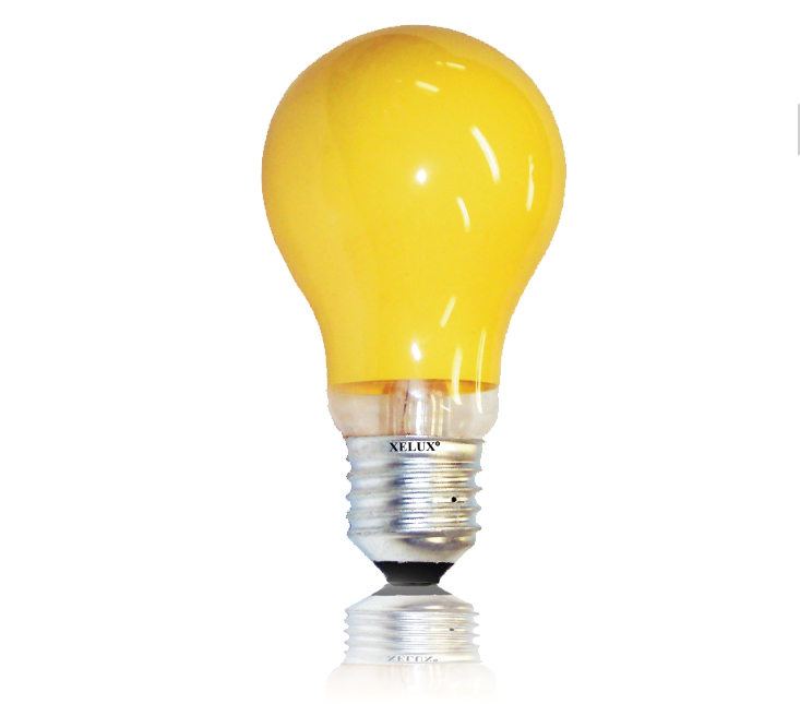 Lâmpada Incandescente Anti-Inseto 60W - Amarela (Rosca - E27)