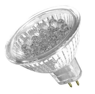 Lâmpada LED  1,3W Dicróica 20 LEDs MR16 Branco Morno 220V
