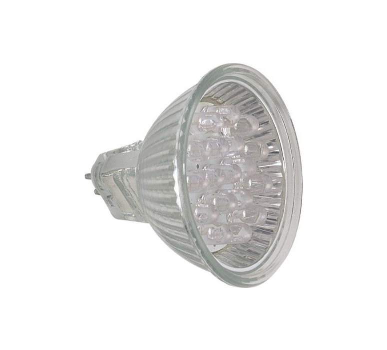 Lâmpada LED  1W Dicróica 18 LEDs JCDR Verde 220V