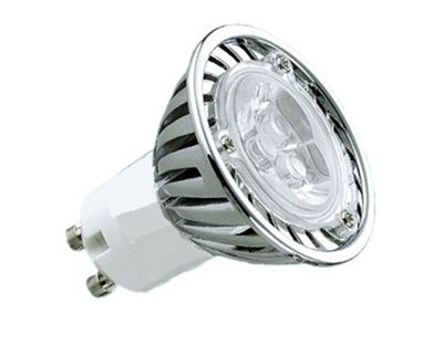 Lâmpada LED 3W Dicróica 3 LEDs GU10 6500K Bivolt