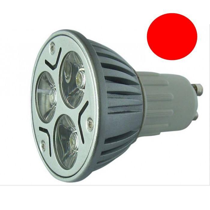Lâmpada LED  3W Dicróica Long GU10 Vermelha Bivolt