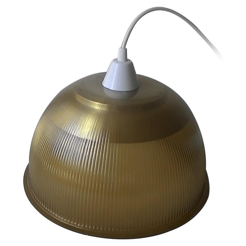 Luminária Prismática 12 Pol Pendente - Cúpula Ambar  LED 18W