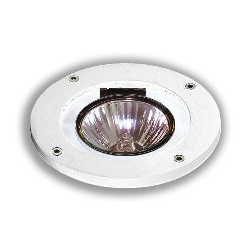 Luminária de Piso Blindado para Lâmpada Par 20 sem Grade - Branco REF 806