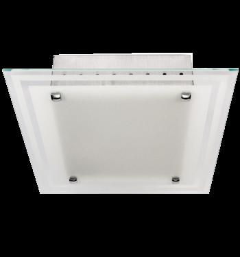 Luminária de Sobrepor Quadrada em Aluminio para 4 Lâmpadas de 20W, Soquete E27