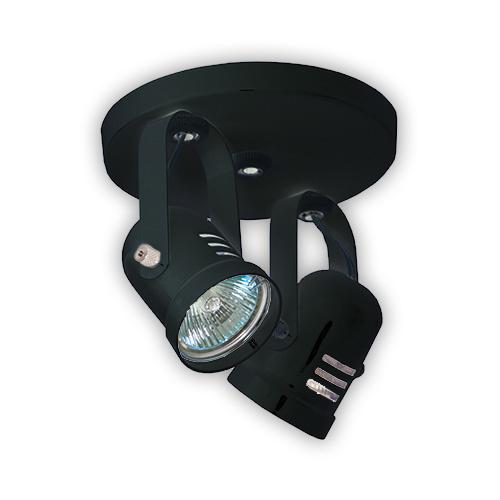 Luminária Externa tipo Spot para 2 Lâmpadas Dicróicas - Preto R-542 2