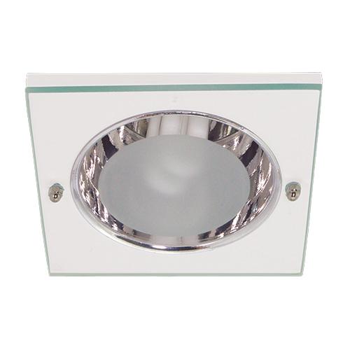 Luminária Funil de Embutir Quadrada em Aluminio - Lâmpada até 20W - JPC - Ref. 053