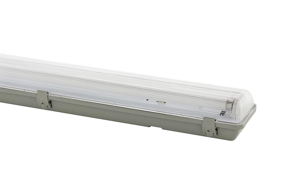 Luminária Hermética Blindada IP65 - 2 Lâmpadas - Ideal para Lâmpadas 28W/32W/36W/40W/54W - T5/T8 - Observação: Não Acompanha Lâmpada