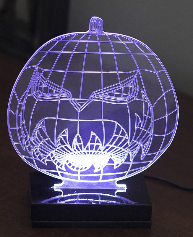 Luminária Illusion 3D Acrílico LED - Abobora