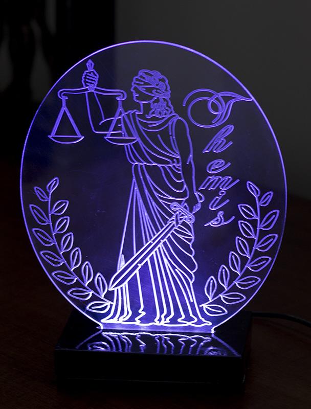 Luminária Illusion 3D Acrílico LED - Advocacia