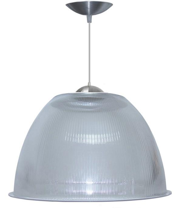 Luminária Prismática 12 Pol Pendente - Luxo Cupula Transparente