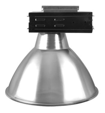 Luminária Prismática 16 Pol Alojamento Caixa Preta E40 com Trilho