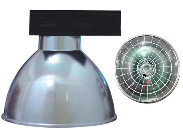 Luminária Prismática 16 Pol Alojamento Caixa Preta  E40 - Com grade