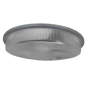 Tampa Lente Luminária Prismática 16 Pol com Aro Moldada Alta
