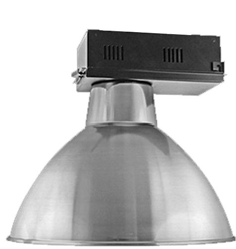 Luminária Prismática 20 Pol Alojamento Caixa Preta  E40