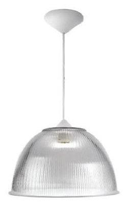 Luminária Prismática 22 POL Pendente Cúpula Transparente