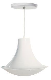 Luminária Prismática Pendente Branca 60W - Base E-27 - TD 620