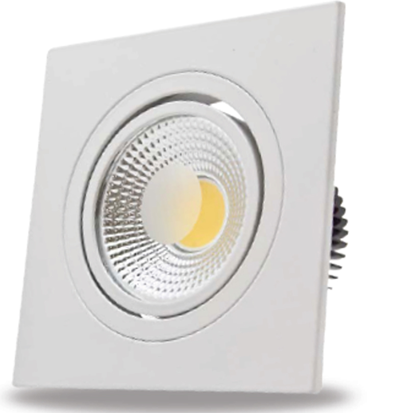 Luminária Spot FLC de Embutir Quadrada LED 3W - Bivolt