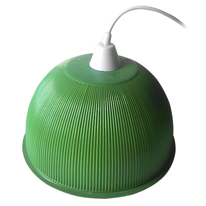 Luminária Prismática 12 Pol Pendente - Cúpula Verde Mar  LED 18W