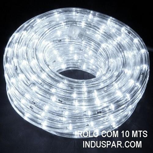Mangueira Luminosa Branca Fria 127V LED - Corda de Natal 10 / 100 Metros