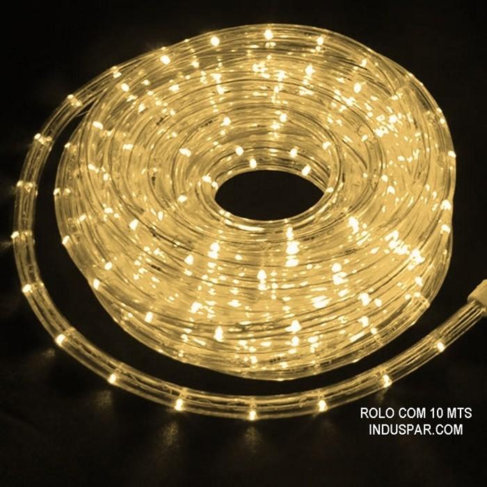 Mangueira Luminosa Branca Morna 127V LED - Corda de Natal 10 / 100 Metros