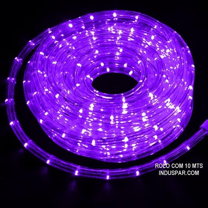 Mangueira Luminosa Roxa 127V LED - Corda de Natal 10 / 100 Metros