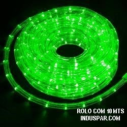 Mangueira Luminosa Verde 127V LED - Corda de Natal 10 / 100 Metros
