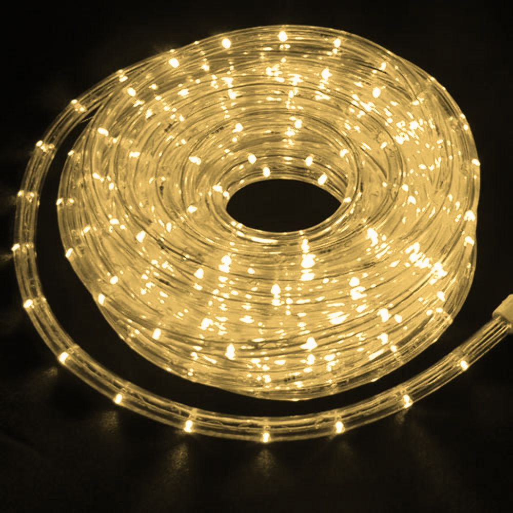 Mangueira 220V Branca Morna LED -  Luminosa Corda de Natal